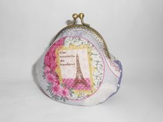 Lilac eiffel tower coin  /change by Elephant9693 on Etsy