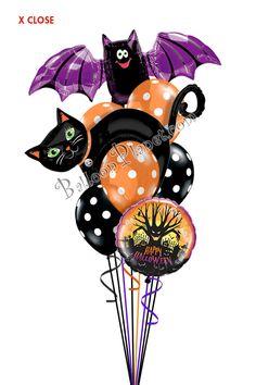 Halloween Balloon Bouquet (8 Balloons)