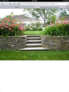 steps as retaining wall - to behind garage?