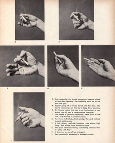 The Psychology Behind How You Hold A Cigarette #2