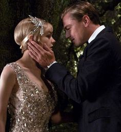 A scene from the film The Great Gatsby starring Leonardo DiCaprio and Carey Mulligan