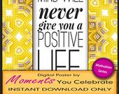 Digital Download Motivational Quote collection Yellow design
