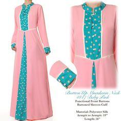 4847 Pink Neck Lace Abaya Dress - Standard Size S/M US$26 FREE SHIPPING WORLDWIDE  Buy It Here --> http://shop.pe/CN4aG