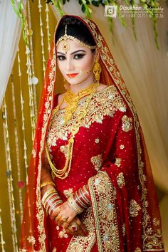 Beautiful Bangladeshi Bride  #saree