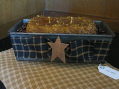 Primitive Bread Pan Candle..