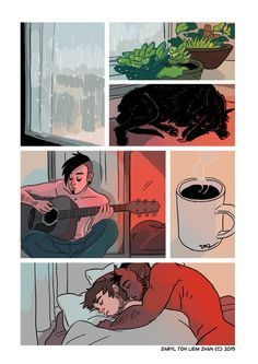 Tobias and Guy — A Rainy Day Music for this strip:Gustavo...