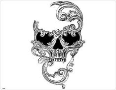 Tattoos are created by injecting ink through into the skin. Tatto Skull, Sugar Skull Tattoos, Skull Tattoo Design, Tattoo Designs, Pretty Skull Tattoos, Skull Mask, Tattoo Ideas, Bild Tattoos, Body Art Tattoos