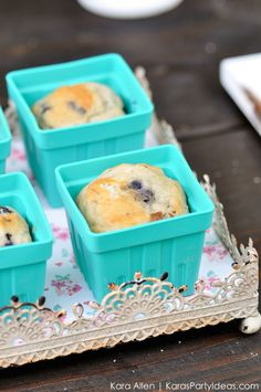 Berry basket muffins! Picnic in the Park by Kara Allen | Kara's Party Ideas in NYC_-9