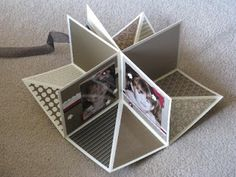 """Fold Up Scrap Album - this would be a great """"special"""" birthday card"""