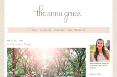 WordPress Themes ~ The Anna Grace W… ~ Creative Market - really <3 that font for the logo!
