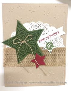 Bright & Beautiful Christmas Stampin' Up! Christmas Paper Crafts, Christmas Cards To Make, Handmade Christmas, Holiday Cards, Christmas Tag, Making Ideas, Card Making Inspiration, Winter Karten, Star Cards