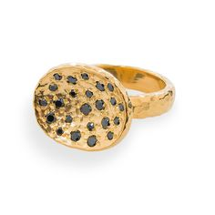 One of my favorite rings. Rose Ring Gold / Black Diamond - Rings | Melinda Maria Jewelry