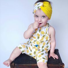Pineapple are perfect for your little's spring/summer wardrobe! Hurry and get yours!!