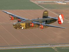"""B24J Consolidated Liberator bomber, """"Witchcraft"""", Tail #252534."""