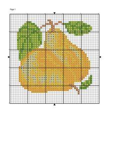Cross Stitch Fruit, Cross Stitch Cards, Cross Stitch Embroidery, Filet Crochet, Ancient Egyptian Art, Needlepoint, Needlework, Free Pattern, Sewing