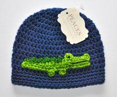 Baby Hats  Alligator / Crocodile Baby Beanie by peacesbycortney, $28.00