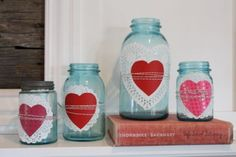 valentine's bottles - so cute!  (pleated poppy)
