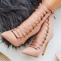 Stiletto Heel Suede Pointed Toe Straps Lace Up Zipper High Heels Party Shoes, Street Style Women, Over The Knee Boots, Stiletto Boots, Wedding Shoes, Women's Pumps, Fashion Boots, Toe, Footwear