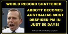 Tony Abbott. Dunce.