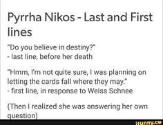 Cries but then stops because Weiss's name literally means White Snow in German, except that double s would become the ß character. It's not a b, dumbasses, it's a double s German character.