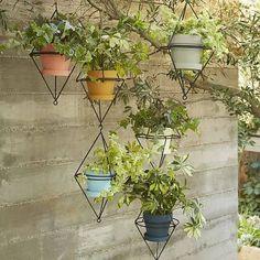 Hanging Wire Pot Bracket - Black, West Elm - Pots & Planters - Plant Containers
