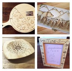Wooden gift options.   Wood is the traditional gift for 5 year anniversaries.   All items custom designed for you  follow us on Facebook!