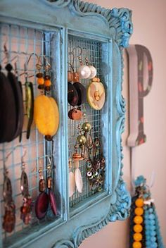 Earring Holder, this is okay to display your work but not good for your personal earrings, you have to keep the ear wires clean or you will get an infection, speaking from experience!