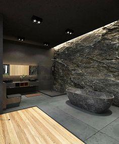 Dream House Interior, Dream Home Design, Modern House Design, Home Interior Design, Modern Architecture House, Architecture Design, Amazing Architecture, Modern Houses, Dark House