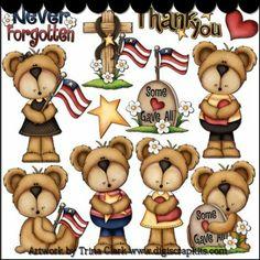Loving Memory Bears 1a Clip Art