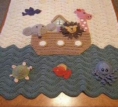 Noahs ark baby blanket, love it!