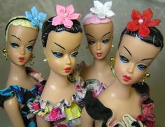 Wish I could repaint dolls! OOAK Fashion Queen Lilli's by Jeez Louise Designs (http://www.jeezlouisedesign.com) From http://www.vintagebarbies.net