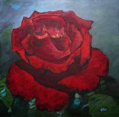 Ruža Akryl na plátne, 45x45 Canvas, Painting, Art, Tela, Art Background, Painting Art, Kunst, Canvases, Paintings