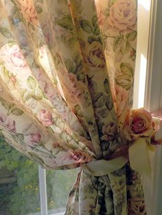 Vintage Roses Shower Curtain, Shabby Roses, Romantic Home, Shabby French Vintage, by mailordervintage on etsy