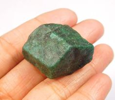 80 Cts. Natural Dyed Green Emerald Rough Mineral Specimen NG4904 #Handmade
