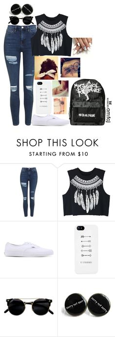 """""""Untitled #42"""" by omfcj ❤ liked on Polyvore featuring Topshop, WithChic and Vans"""