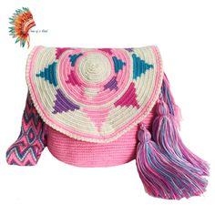 Tapestry Bag, Tapestry Crochet, Knit Crochet, Hippie Shop, Crocheted Bags, Crochet Purses, Poufs, Handmade Design, Aztec