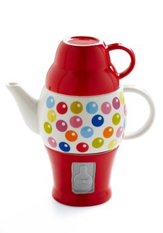 Super cute gumball machine tea set from Modcloth.