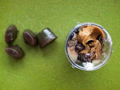 Blueberry Greek Yogurt Smoothie with Juice Ice Cubes