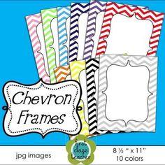 FREE - Chevron Frames ~ 10 colors
