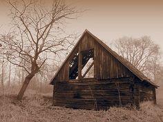 A Hayloft....(Třeboň)  A Smoky morning on the Wet Meadows