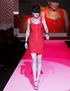 Pauley Perrette Walks Runway at New York Fashion Week.