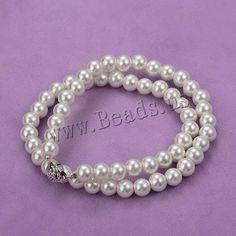 Perlas de vidrio collar