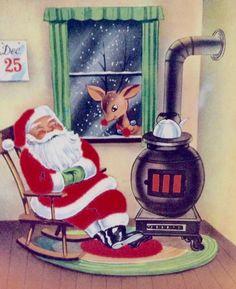 Rudolph with Santa