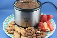 A Year of Slow Cooking: Chocolate and Marshmallow Fluff Fondue for the Little Dipper CrockPot