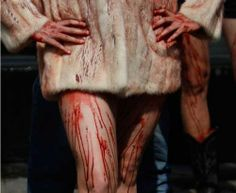 Parade wearing only fur bloody: the protest by animal rights activists in Mexico (November 29, 2010)