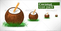 Coconut Drink — JPG Image #glossy #drink • Available here → https://graphicriver.net/item/coconut-drink/68816?ref=pxcr
