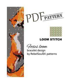 red fox bead pattern pdf pattern seed bead pattern wild