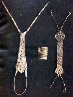 Gold jewels from the Devoll culture, 11th-7th B.C, Barç and Kuq i zi, Albania.