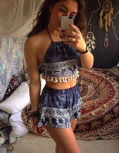 My ideal summer outfit is a printed cotton dress that's light and breathable, in a bright color. Find Cute Women Outfits Ideas To Wear This Summer here. Cute Summer Outfits, Cute Casual Outfits, Stylish Outfits, Spring Outfits, Hippie Outfits, Girl Outfits, Fashion Outfits, Boho Fashion, Girl Fashion