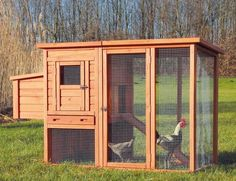 34 DIY Chicken Coop Plans that are Easy to Build (100% Free)--wonderful but be careful these types of coops are NOT PREDATOR PROOF!! A pack of coyotes or dogs can tip this over if it is not secured to the ground! and the wire around the bottom can easily be pushed in by a dog! it happened to us!!! #DIYchickencoopplans